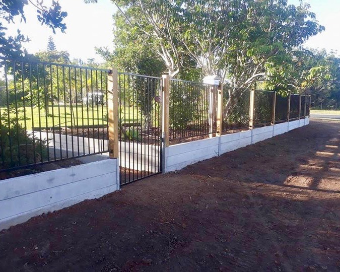 Concrete Sleeper Retaining Wall