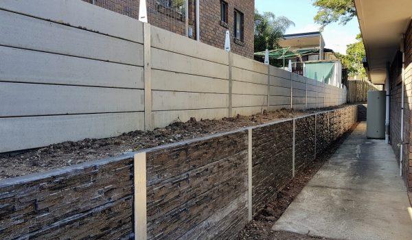 concrete sleeper retaining walls decorative