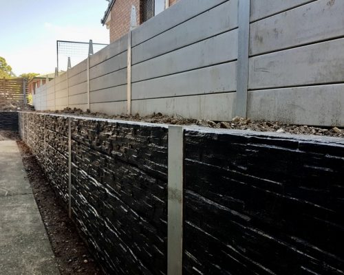 concrete sleeper retaining walls