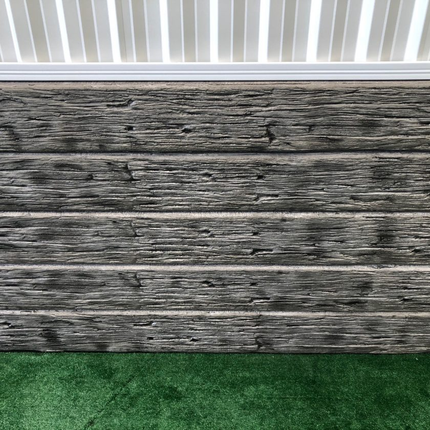 Concrete Sleeper Retaining Wall Timber Look
