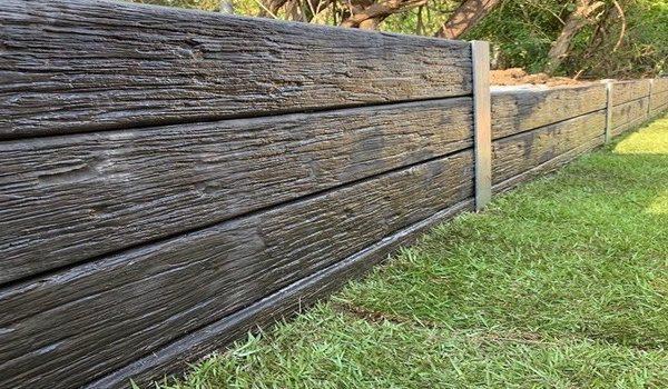 Concrete Sleeper Retaining Wall Timber Look